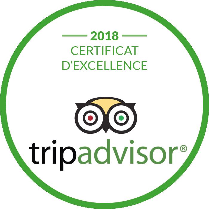 Certificat d'excellence de la restaurant à Sarlat